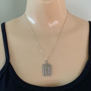 Solvar Sterling Silver Double Sided Necklace